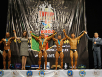 Uzbek athletes at the championship of Kazakhstan on bodybuilding.